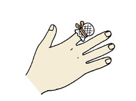 指のケガ イラスト